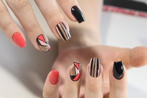 Stylish Shellac Nail design