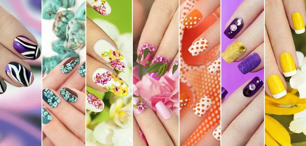 various nail art designs