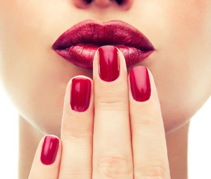 red nail polish shades