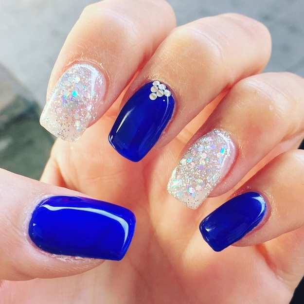 prom queen Royal Blue Nail