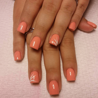Some Alluring Peach Nail Designs that Can't be Ignored - 20 Stylish Peach Nail Designs For Christmas Eve – NailDesignCode