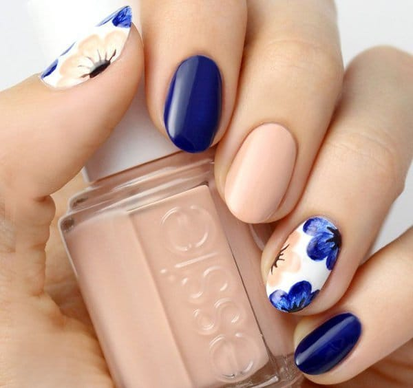 Nude Blue nail