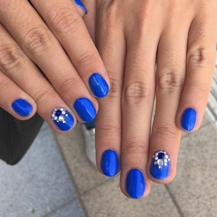 natural Royal Blue Nail