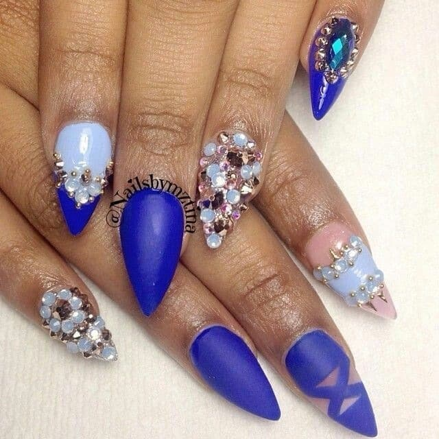 beautiful Royal Blue Nail
