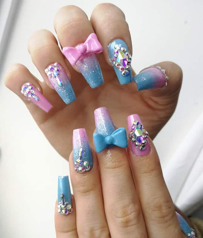 3d nail designs with bows