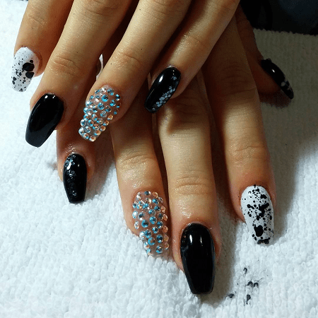 30 aristocratic bling nail designs for 2020  naildesigncode