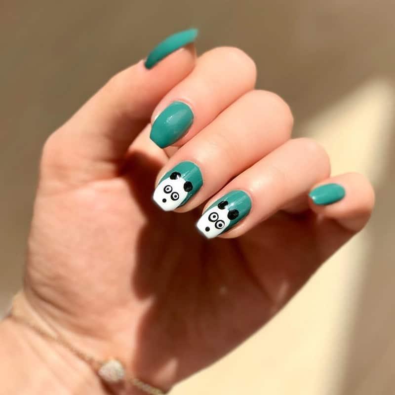 panda acrylic nail designs