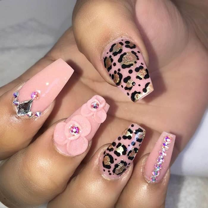3d Cheetah Print Nail Design