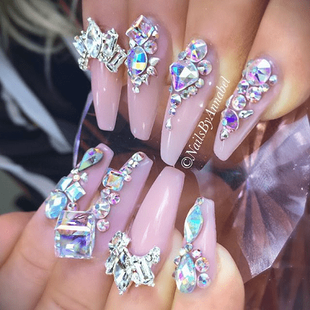 Face your demons, roll up your sleeves and start making your choices. Which  one of these bling nail designs is your favorite? - 20 Aristocratic Bling Nail Designs For 2018 – NailDesignCode