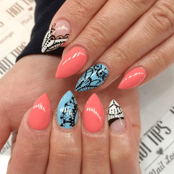 20 majestic pointed nail designs for 2020  naildesigncode