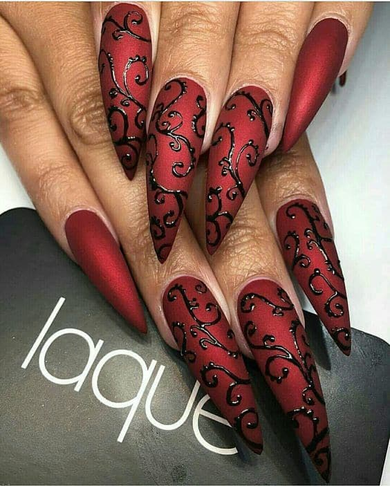 Mysterious Matte Maroon Nails