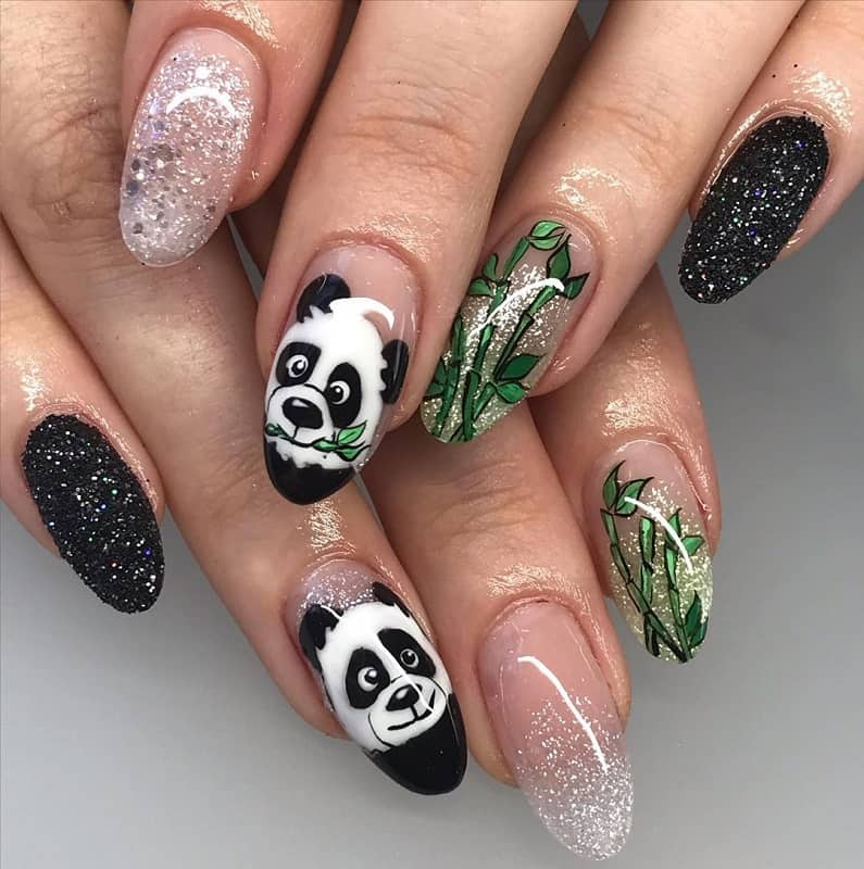 kungfu panda nail art
