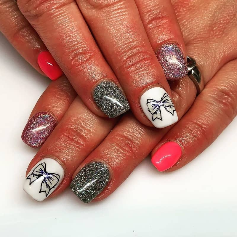 bow nail art stickers