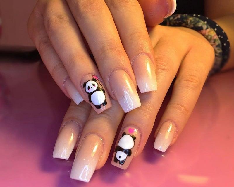 panda nail art stickers