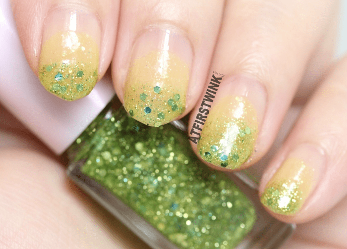 juicy lime green nails