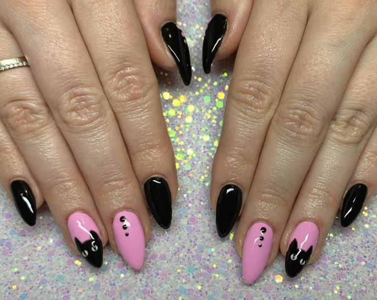 31 Hot Pink And Black Nail Designs That Are Truly Amazing