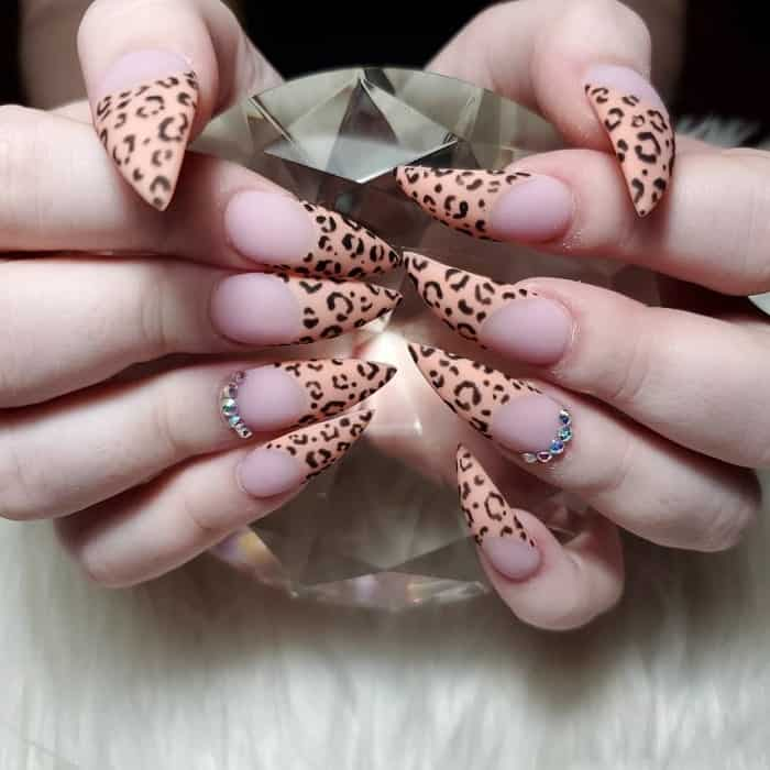 Cheetah Stiletto Nails