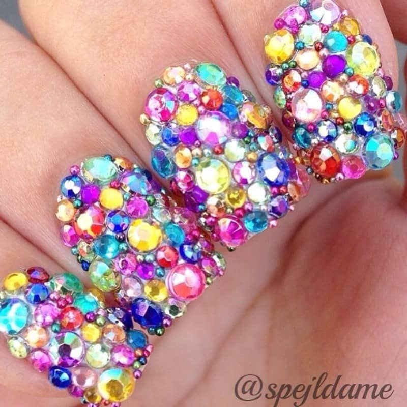 20 funky nail designs that are totally adorable naildesigncode super colorful and rainbow looking these funky nail designs are the first ones on our list did you know that no two people see the same rainbow prinsesfo Image collections
