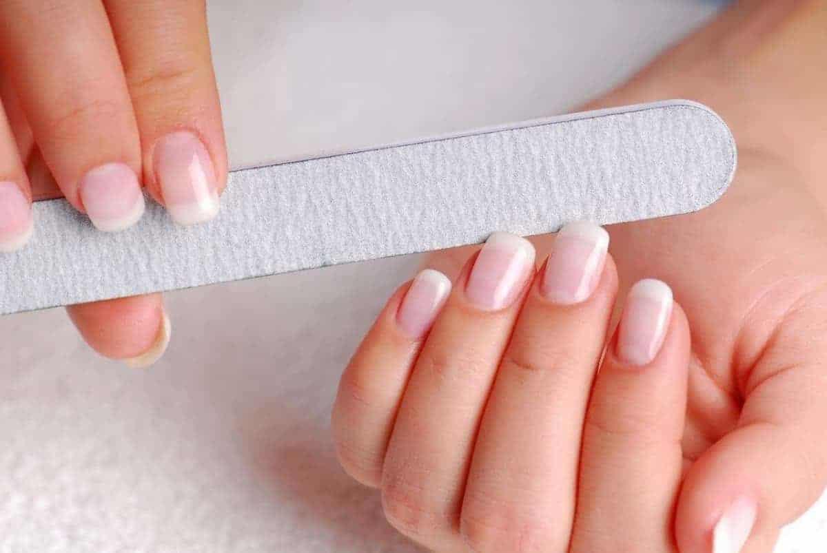 filing and shaping nails