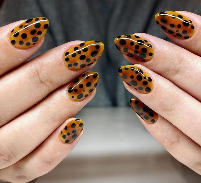 Leopard Print Gel Nails