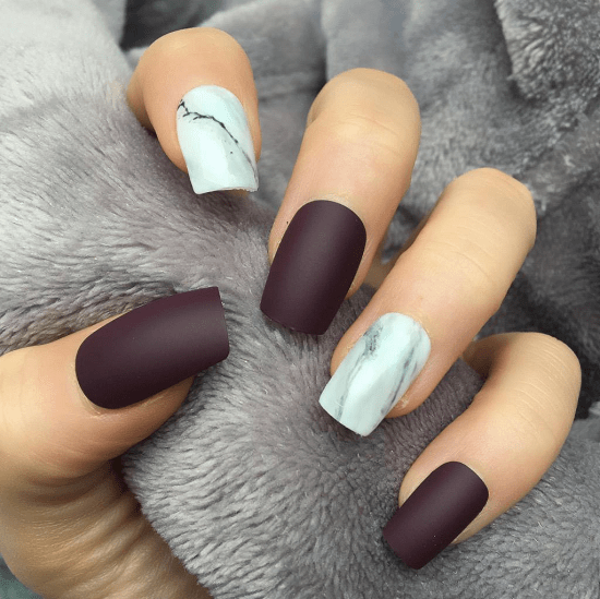 12 Classy Maroon Matte Nails You Must See Naildesigncode