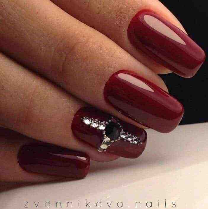 40 Super Hot Maroon Color Nail Polish Ideas