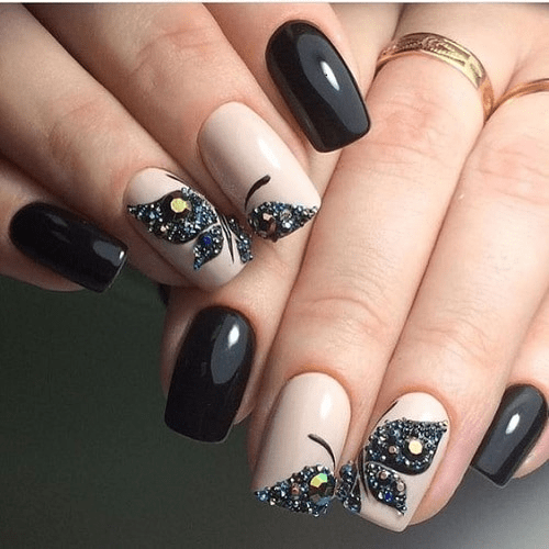 There you have original and fun nail designs that will sweep every one of  their feet when they look at you, ... - Top 30 Squoval Nail Designs To Redefine Your Personality