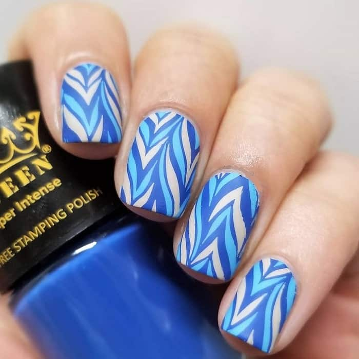 water marble nail stamp