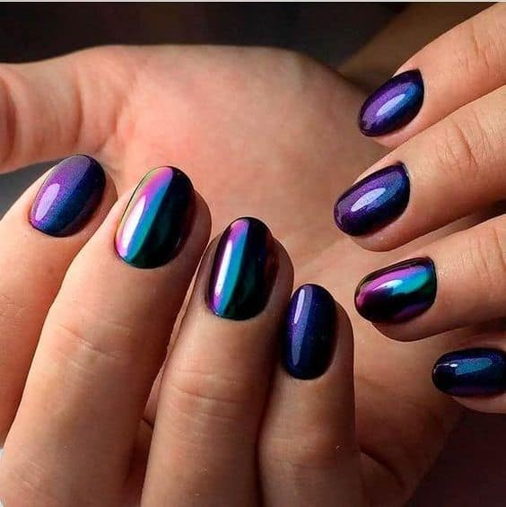 Mirror Acrylic Round Nails