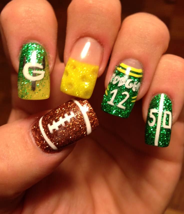 Football Nail Design Ideas - 20 Football Nail Arts 2018 To Support Your Favorite Team