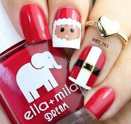 Santa Art on Nail