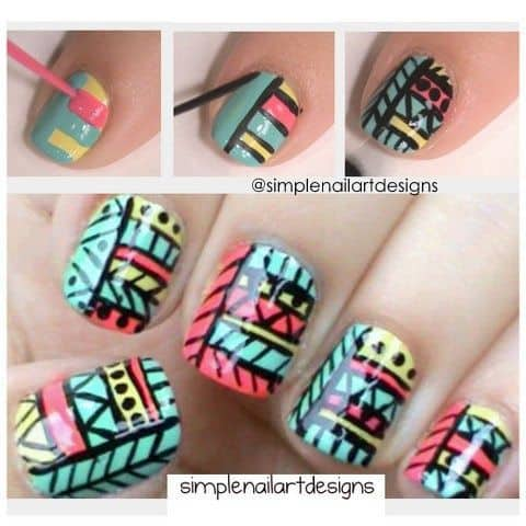 DIY Tribal Nail Art