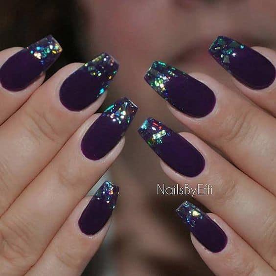 Purple Ballerina Nail