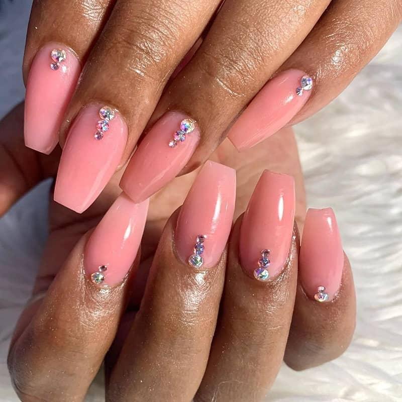 baby pink ballerina nails