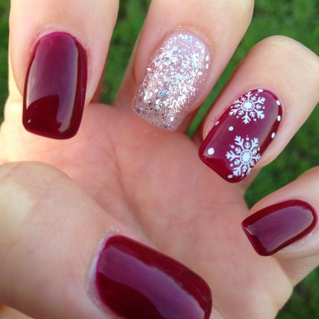 Snowflake Nail Designs: 25 Ideas to Celebrate Winter