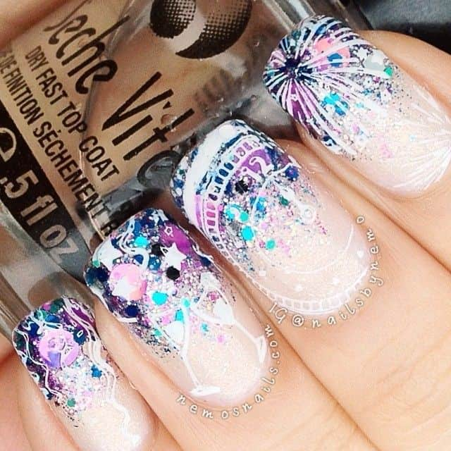 cute nail designs for new years