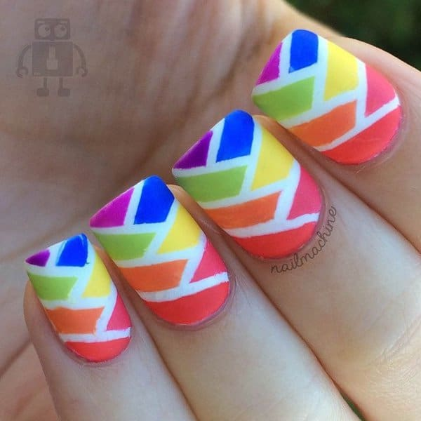 Colorful Abstract Nail Design