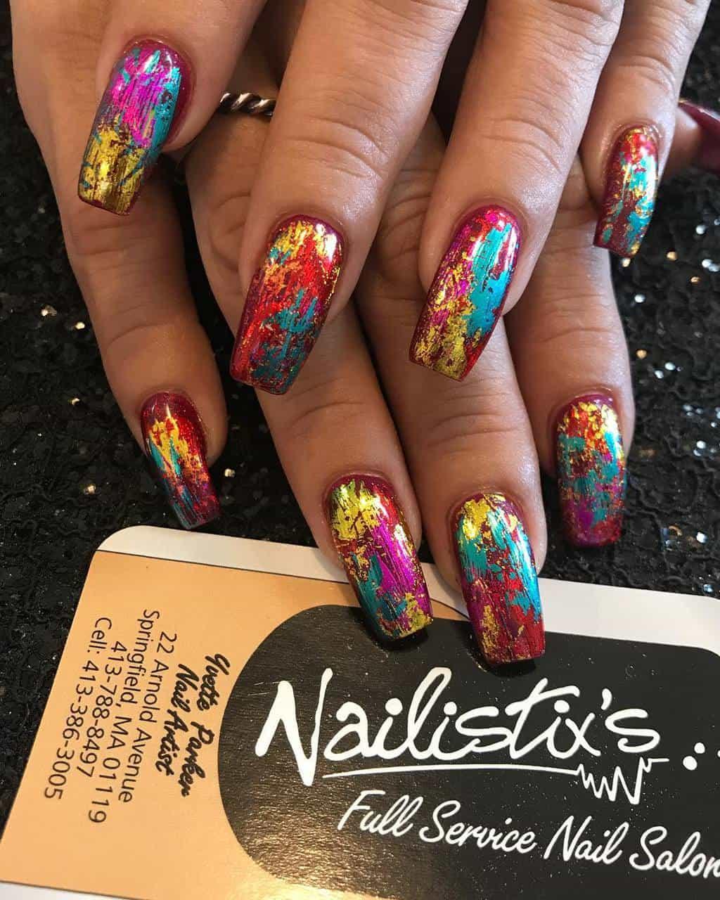 paints on ballerina nails