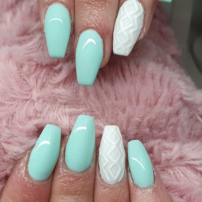 winter ballerina nails