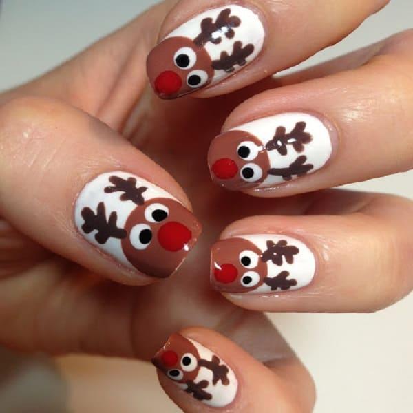 A-team Reindeer Nail Design