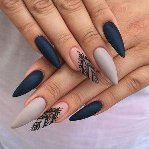 Long Matte Stiletto Nails