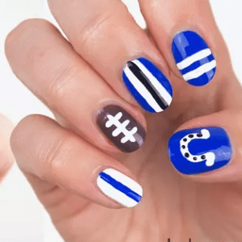 20 Football Nail Arts 2018 To Support Your Favorite Team