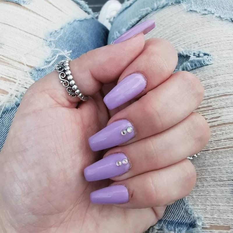 purple ballerina nails
