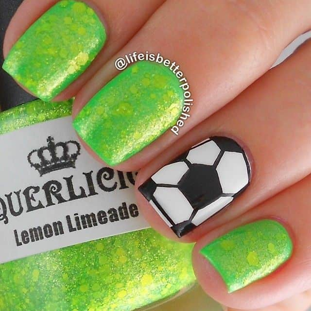 Football Field Nail Arts
