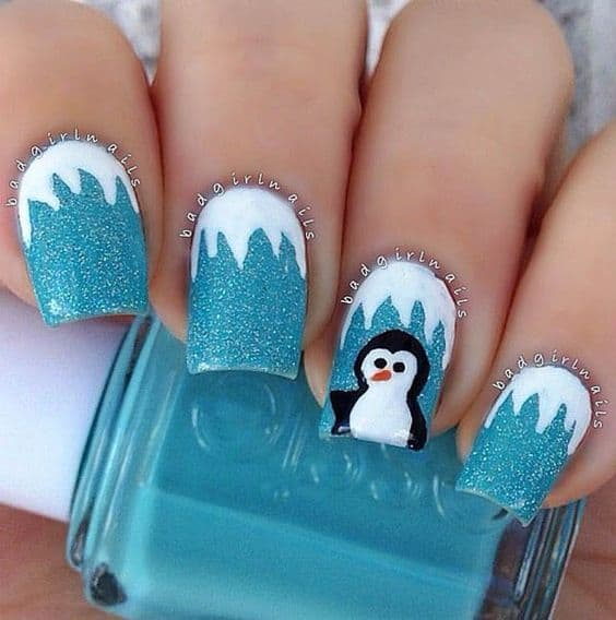 Penguin Winter Nail