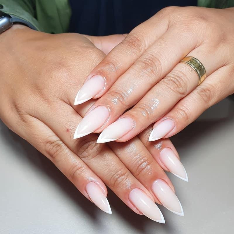 nude fake nails