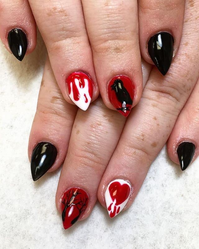 short stiletto gothic nails