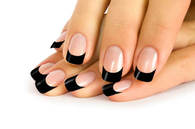 Black Tip Solar Nails