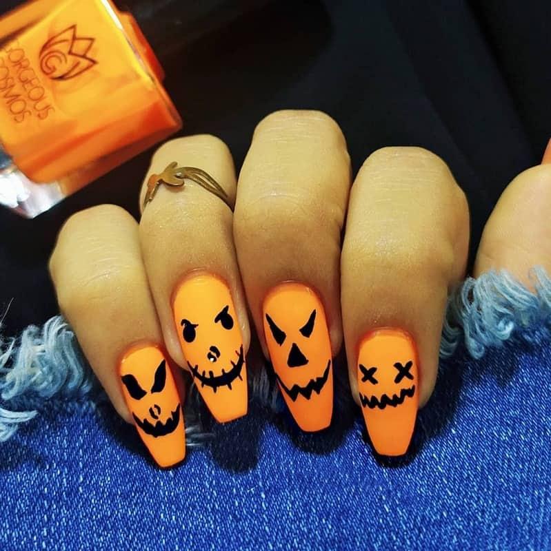 halloween ballerina nails