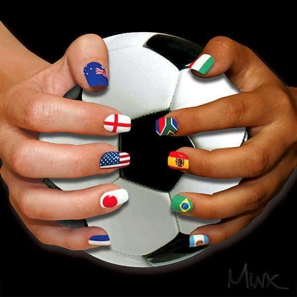 Flag Nail art design